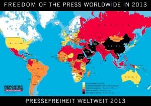 Pressefreiheit weltweit 2013