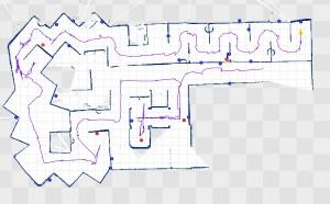 Karte, die von den Robotern bei der Fahrt durch einen Parkour erstellt wurde. (c) Team AutonOHM