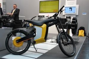 ein Elektro Motorrad.