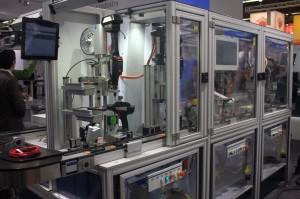 Demonstrationsanlage von Bosch Rexroth, auf der SPS IPC Drives