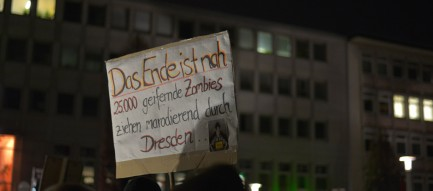 Demonstration Nonuegida Schild