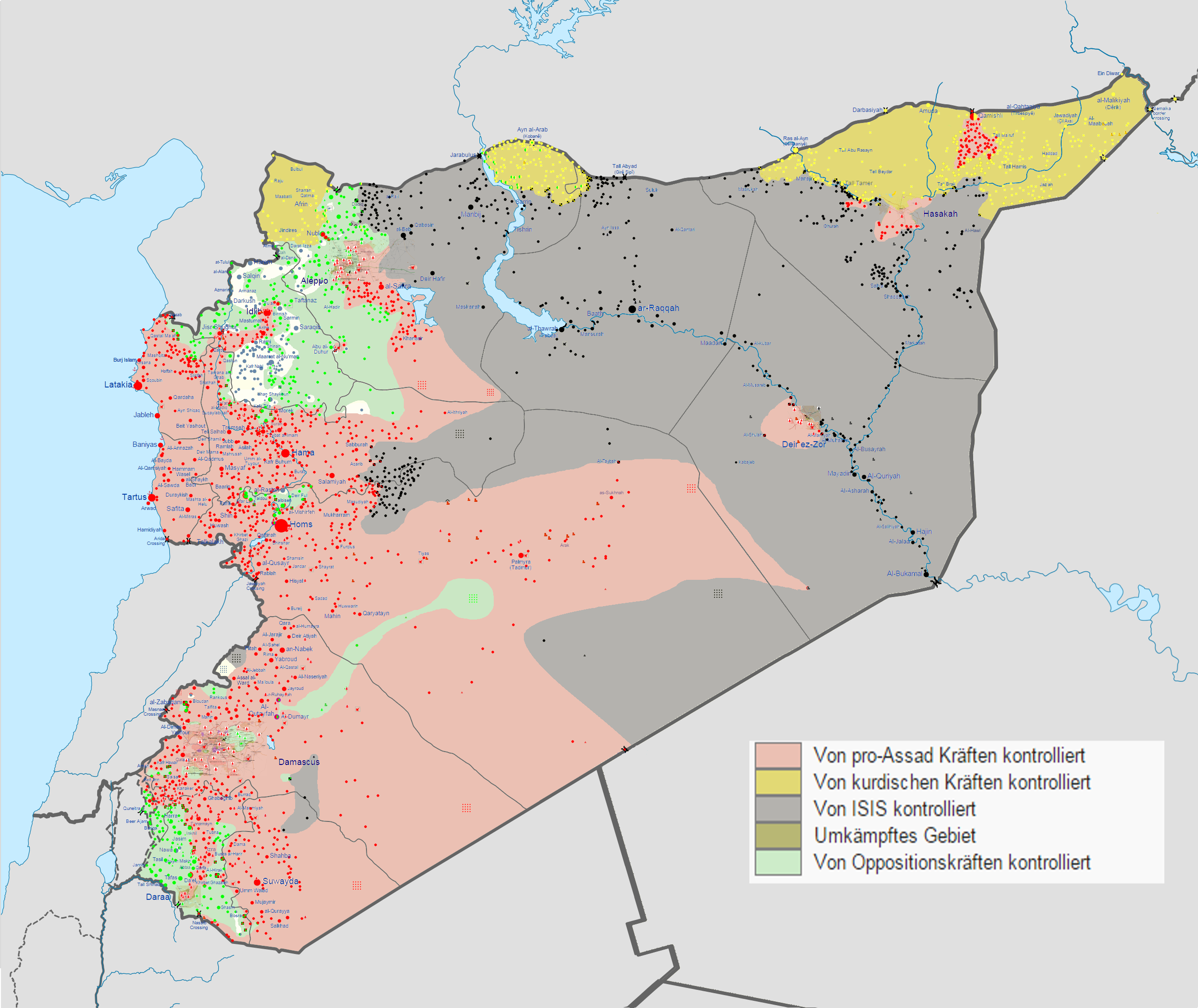 Der zersplitterte Staat Syrien