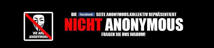 Anonymus warnt vor der Fake-Seite. (screenshot/facebook)