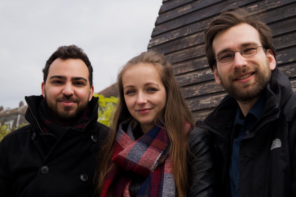 Das sind wir. Nathanael, Jana und Ludwig (von links)